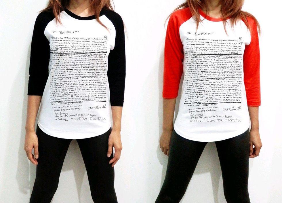 Vile Kurt Cobain Suicide Note T-Shirts Now For Sale on Ebay