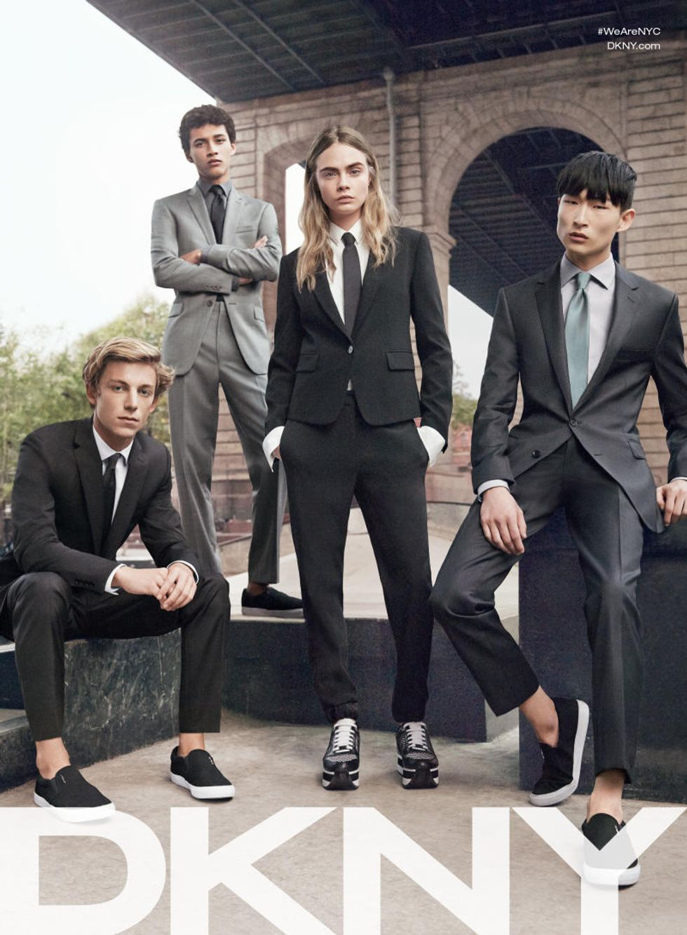 Cara Delevingne Ditches Her Girl Crew for the Boys in New DKNY Campaign