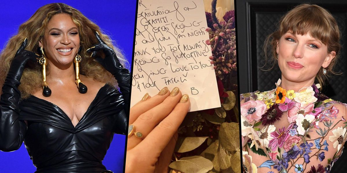 Taylor Swift Shares the Note Beyoncé Sent Her Following The Grammys