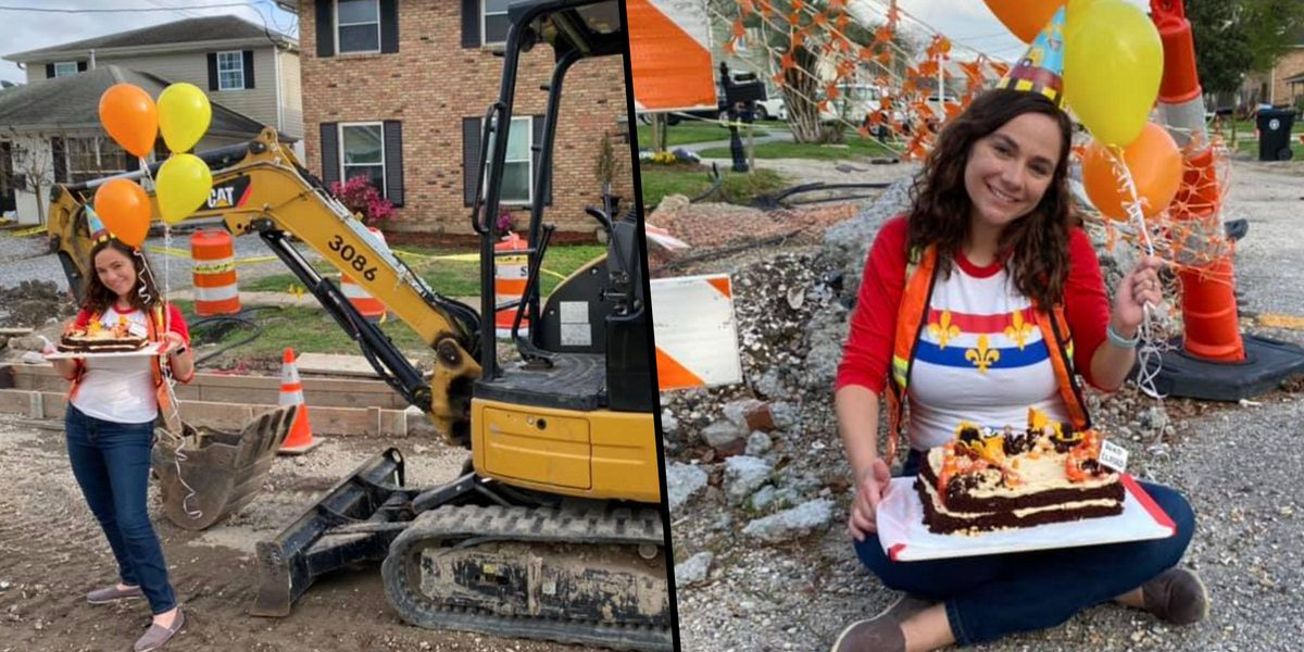 Woman Throws Party for One Year Anniversary of Incomplete Road Work in Front of Her Home