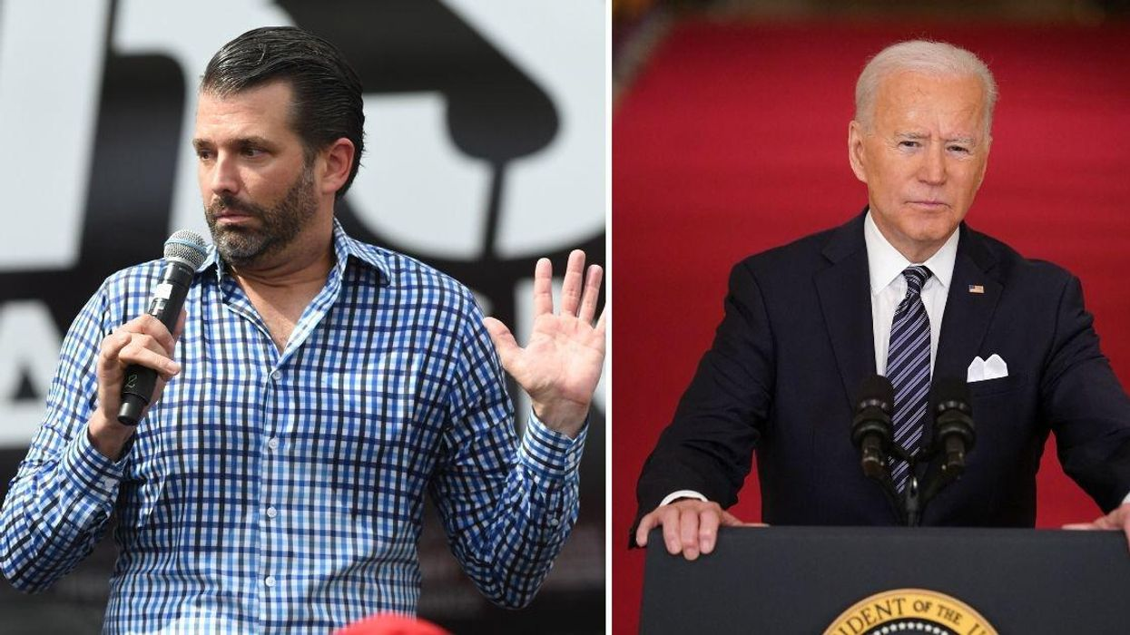 Don Jr. Blasted For Sharing Video Mocking Why Biden Really Tripped On Air Force One Steps