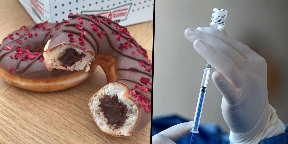Krispy Kreme Will Give You a Free Doughnut Every Day This Year if You've Been Vaccinated