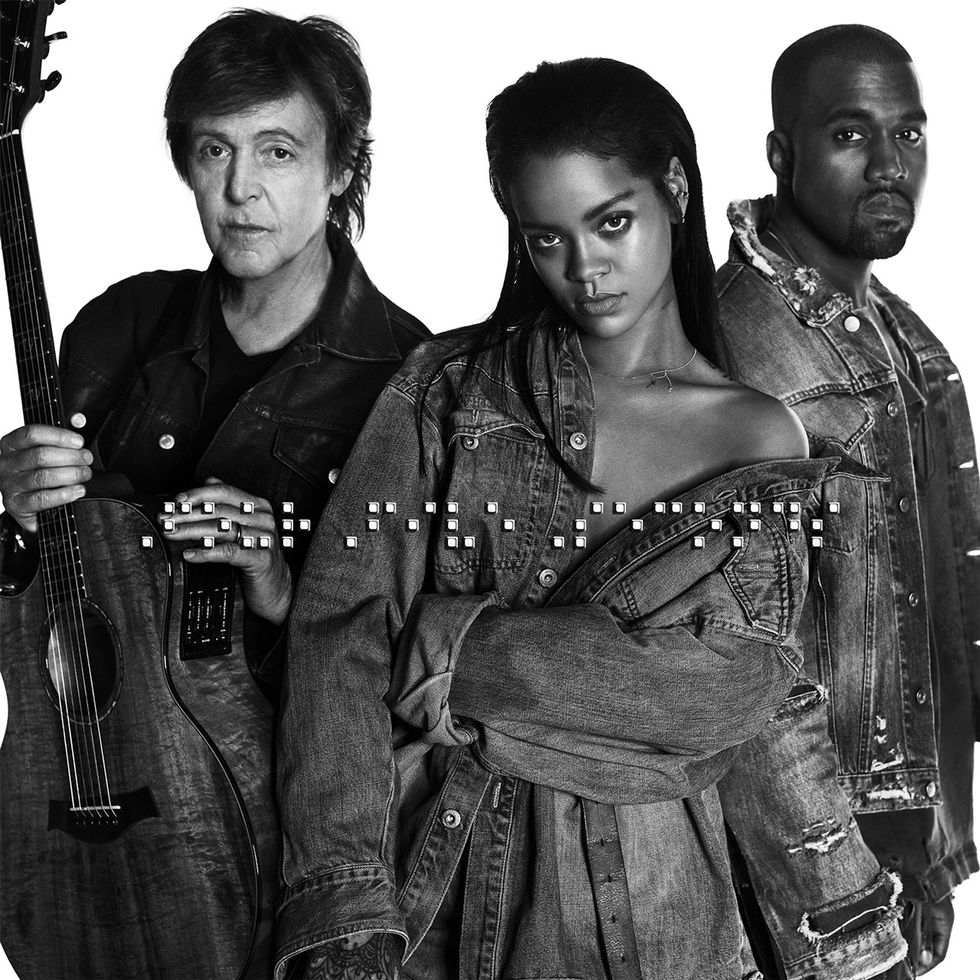 "Listen to Rihanna, Kanye and Paul McCartney's New Track, ""FourFiveSeconds"""