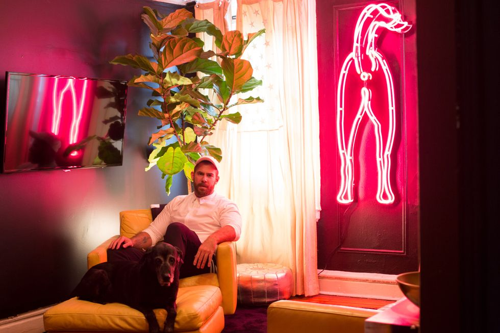 At Home With Artist (and Former Club Kid), Desi Santiago