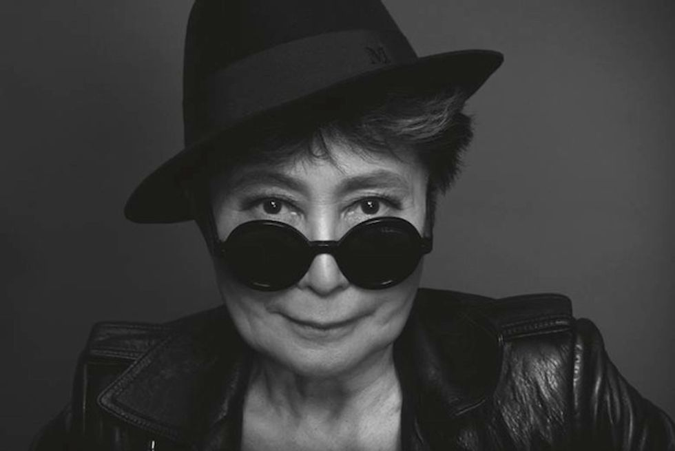 "Yoko Ono On Achieving World Peace: ""Think of People Smiling"""