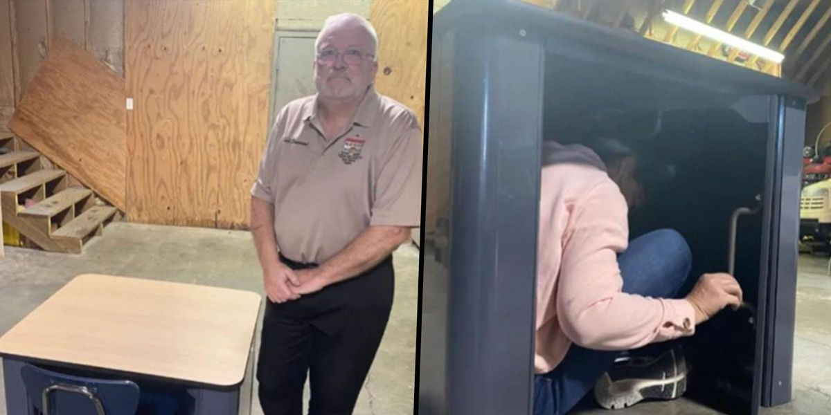 Ex-Police Officer Creates Desk Designed to Protect Students During School Shootings