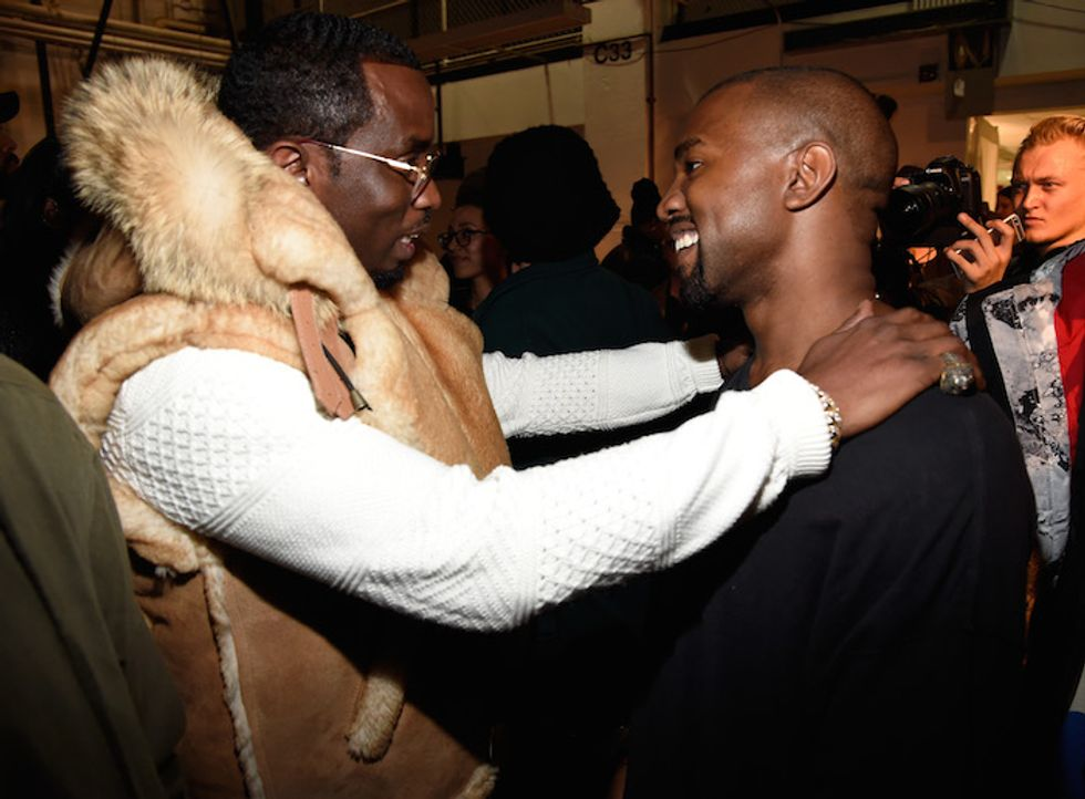 Backstage at Kanye West's Adidas Fashion Show