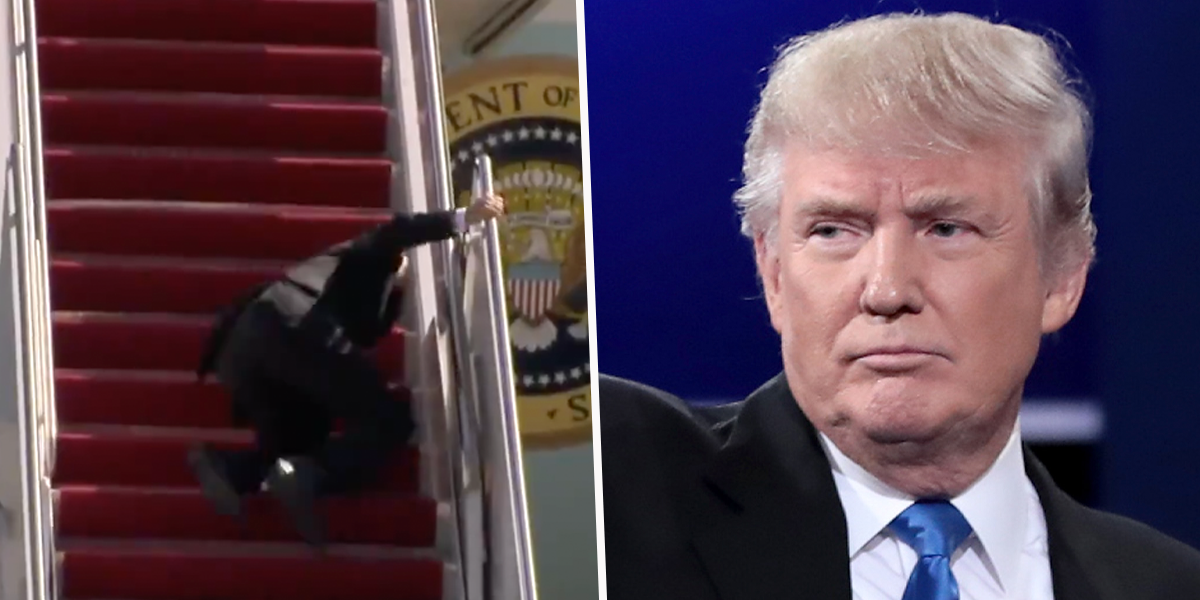 Donald Trump Responds to President Biden's Air Force One Fall and Suggests He's 'Very Confused'