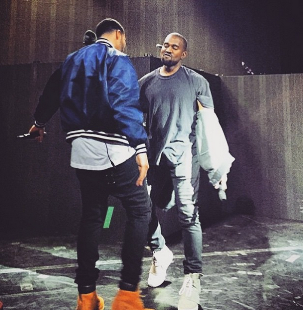 """Watch Drake Cover """"Only One"""" & """"Four Five Seconds,"""" Bring out Kanye at His Show"""