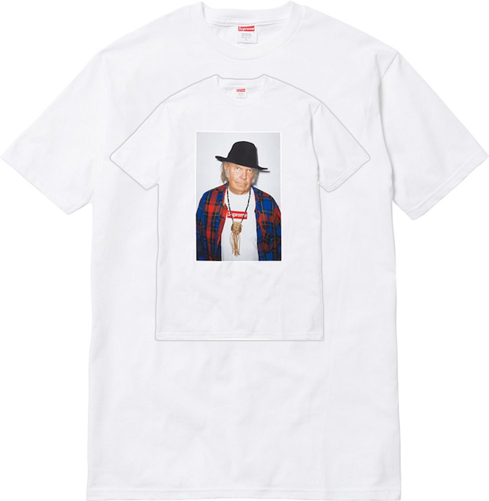 Supreme's Neil Young Tee is Here! Our Neil Young Tee-Tee is On Its Way