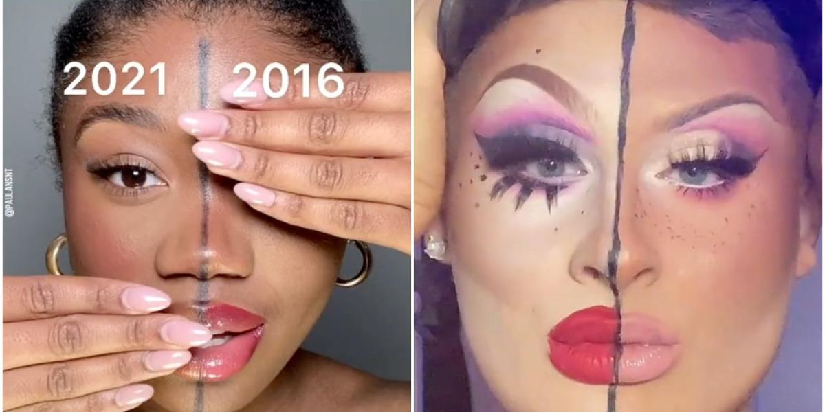 TikTokers Are Comparing Their 2016 Vs. 2021 Makeup Looks