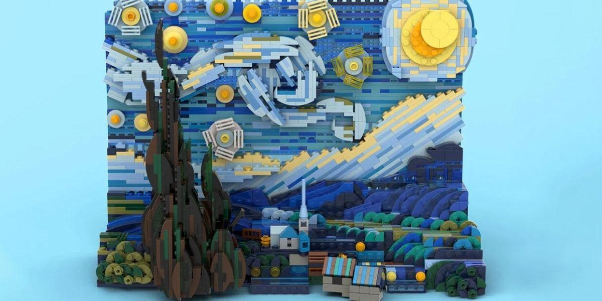 25-Year-Old PhD Student Convinced Lego to Mass-Produce Van Gogh's 'Starry Night' as an Official Toy Kit