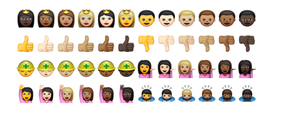 Here's What the New Diverse Emoji Look Like