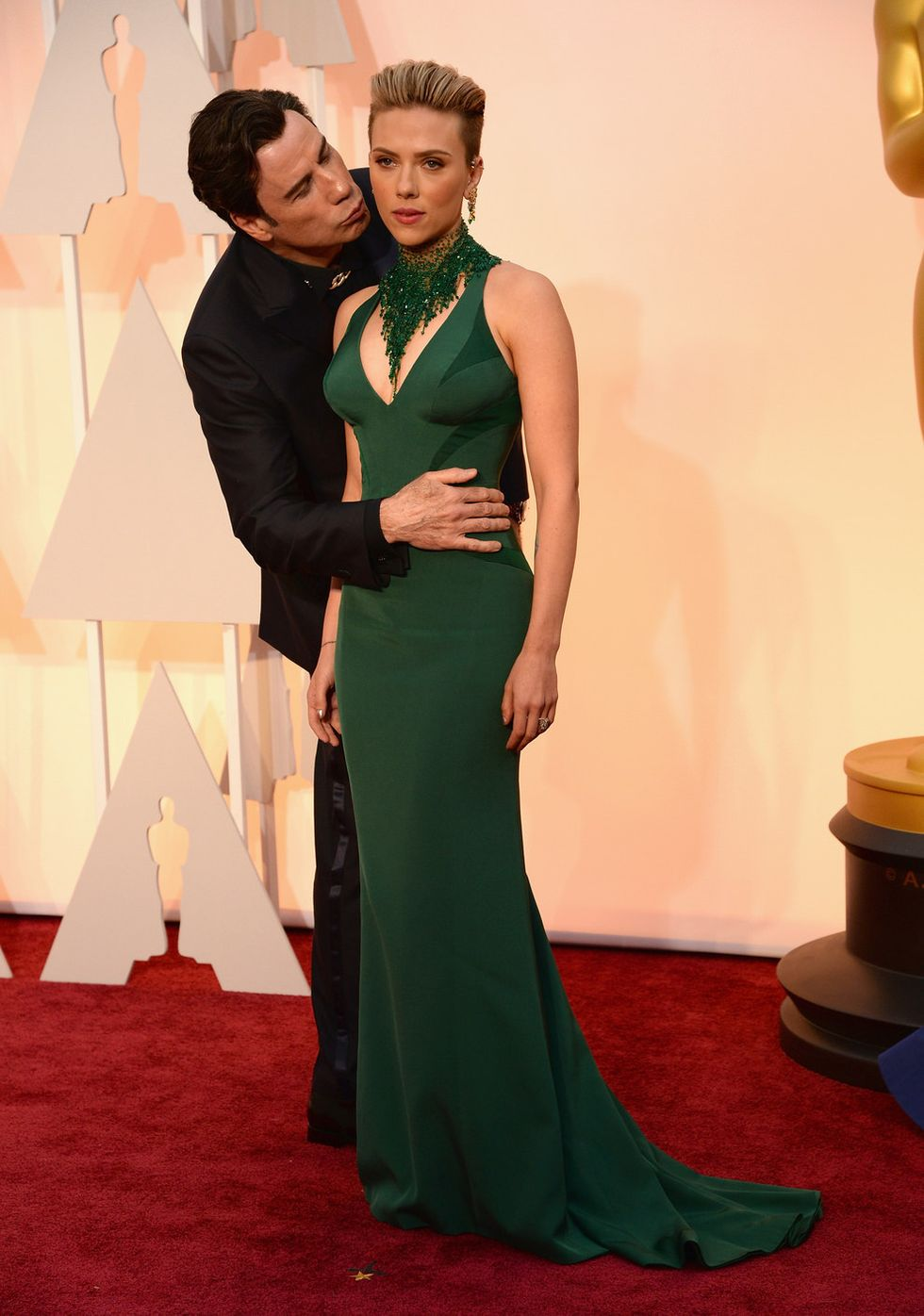 It Was Very Normal When John Travolta Kissed Scarlett Johansson, Says Scarlett Johansson