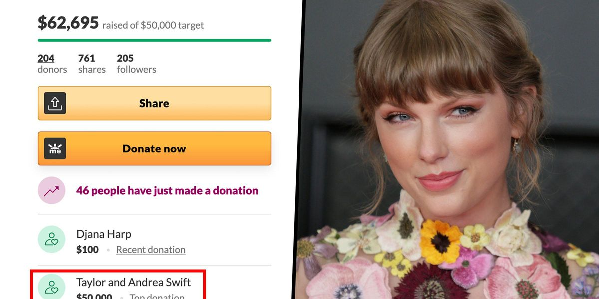 Taylor Swift Donates $50,000 To Family Whose Father Died of COVID-19