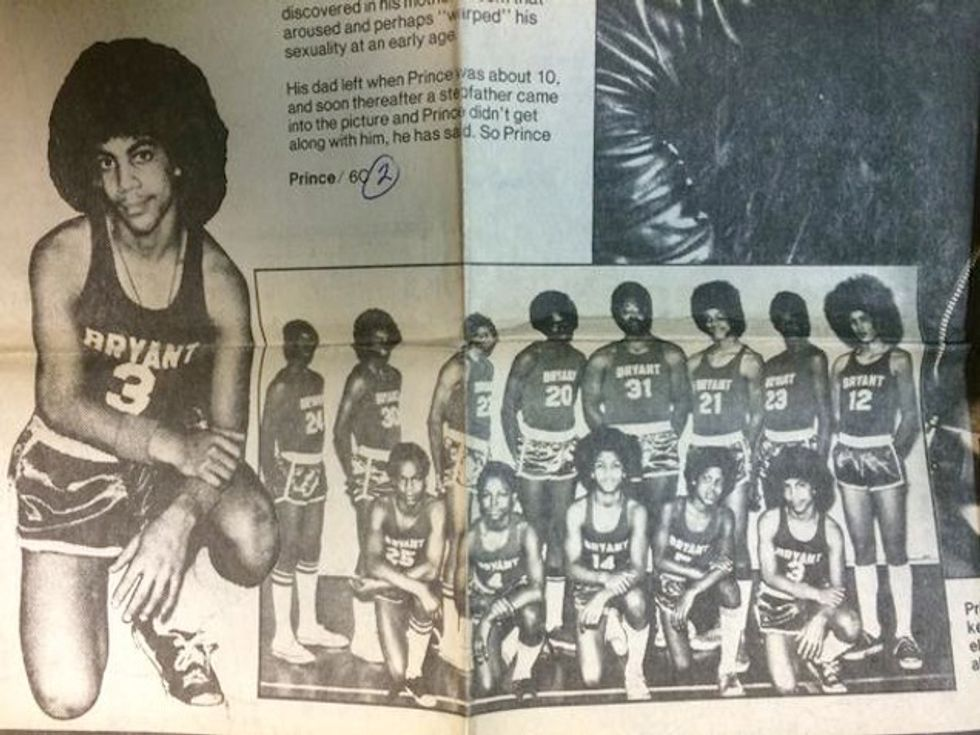 Enjoy This Photo of Prince as a Middle School Jock