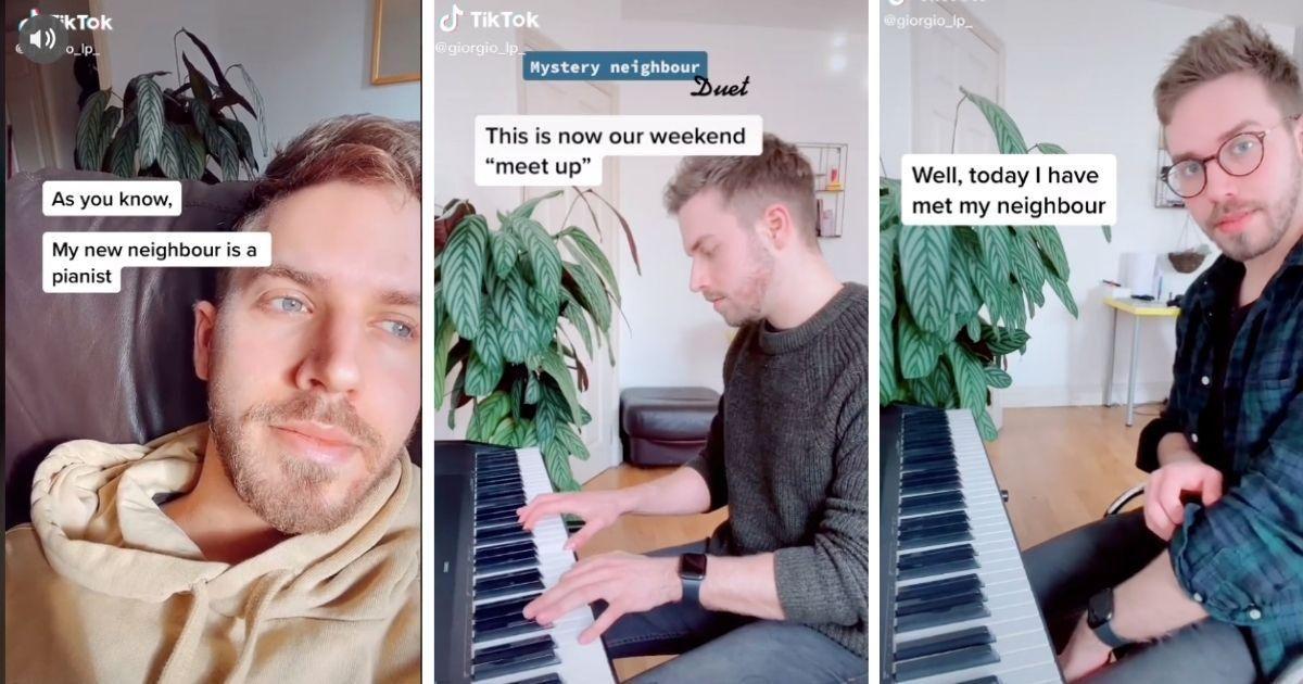 Das Klavierduett eines Mannes mit einer mysteriösen Nachbarin durch die Wand wurde zu einer wunderschönen Liebesgeschichte