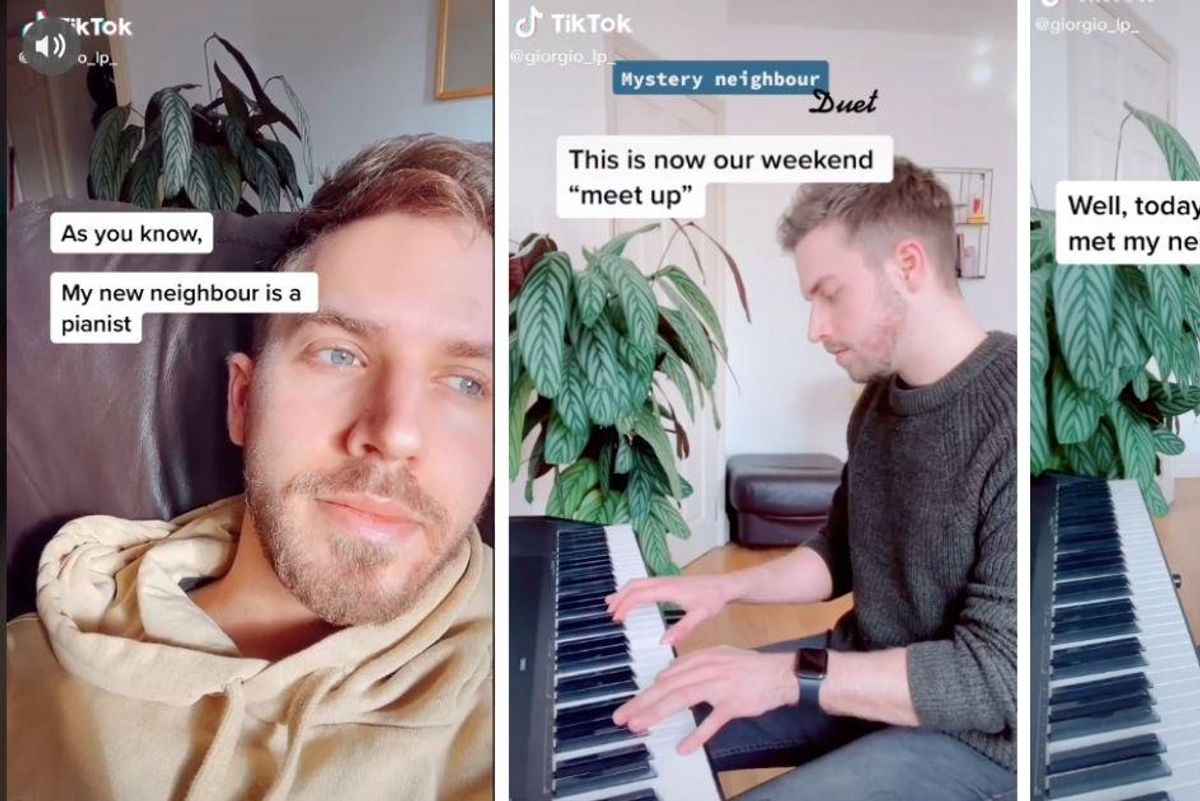 Man's through-the-wall piano duet with a mystery neighbor became a beautiful love story