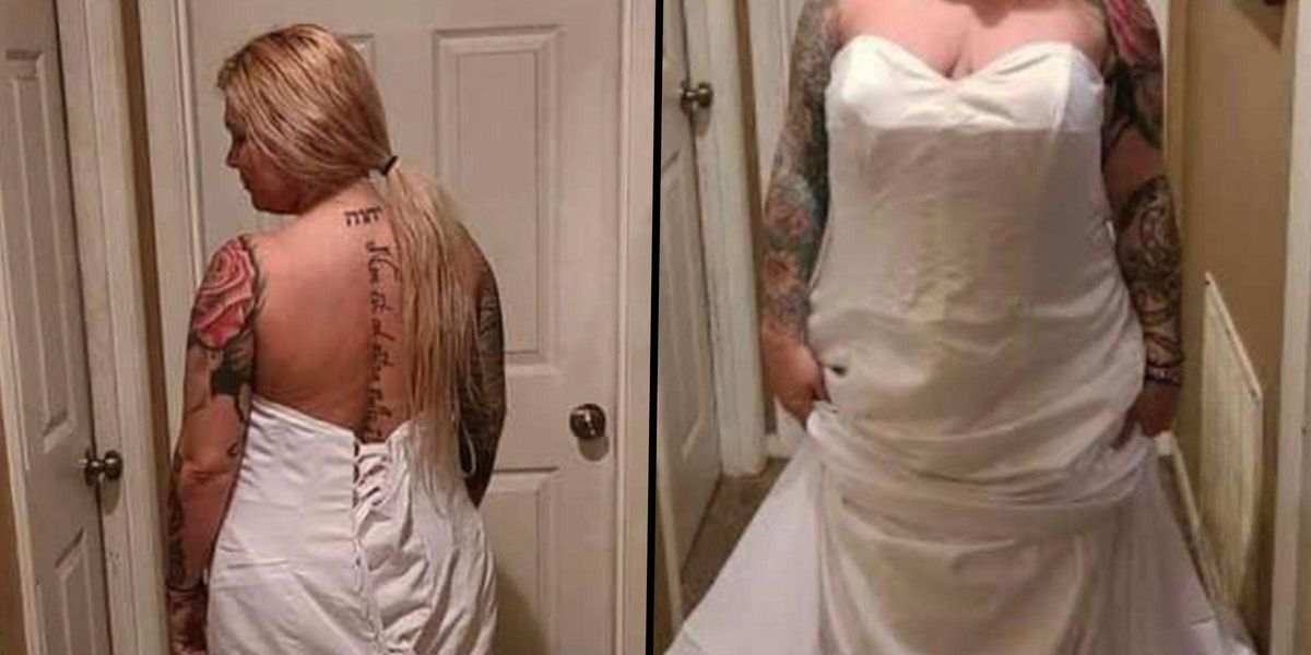 Bride Livid That Dress Looks 'Nothing Like Order' Before Realizing She Had It on Inside Out