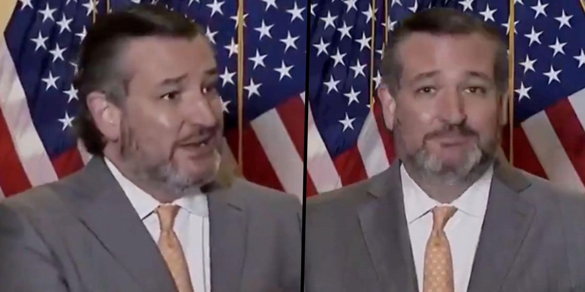 Ted Cruz Swats Away Reporter's Request To Wear a Mask