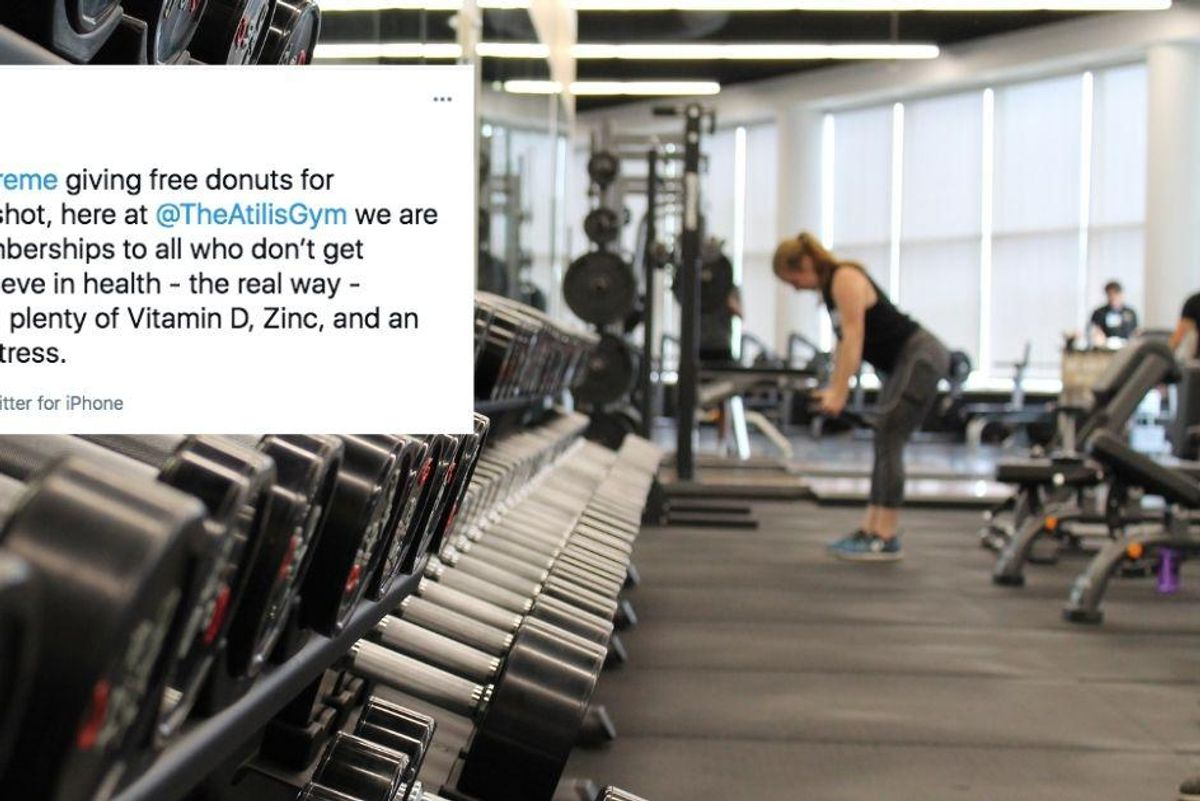 A note to the gym owner offering free memberships to people who refuse to get the vaccine