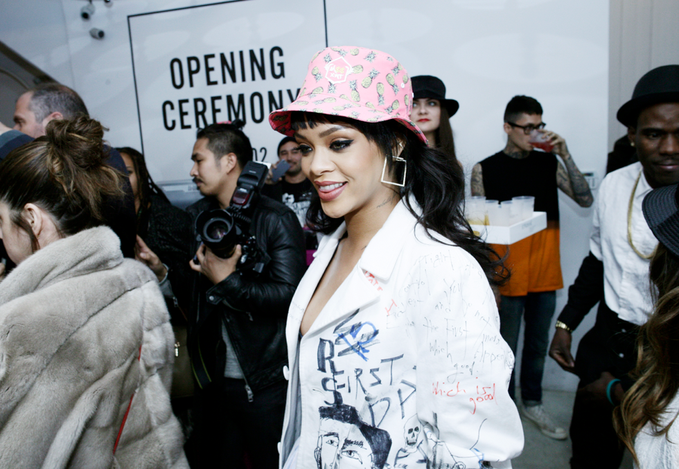 Rihanna and Melissa Forde Launched M$$xWT Bucket Hats at Opening Ceremony