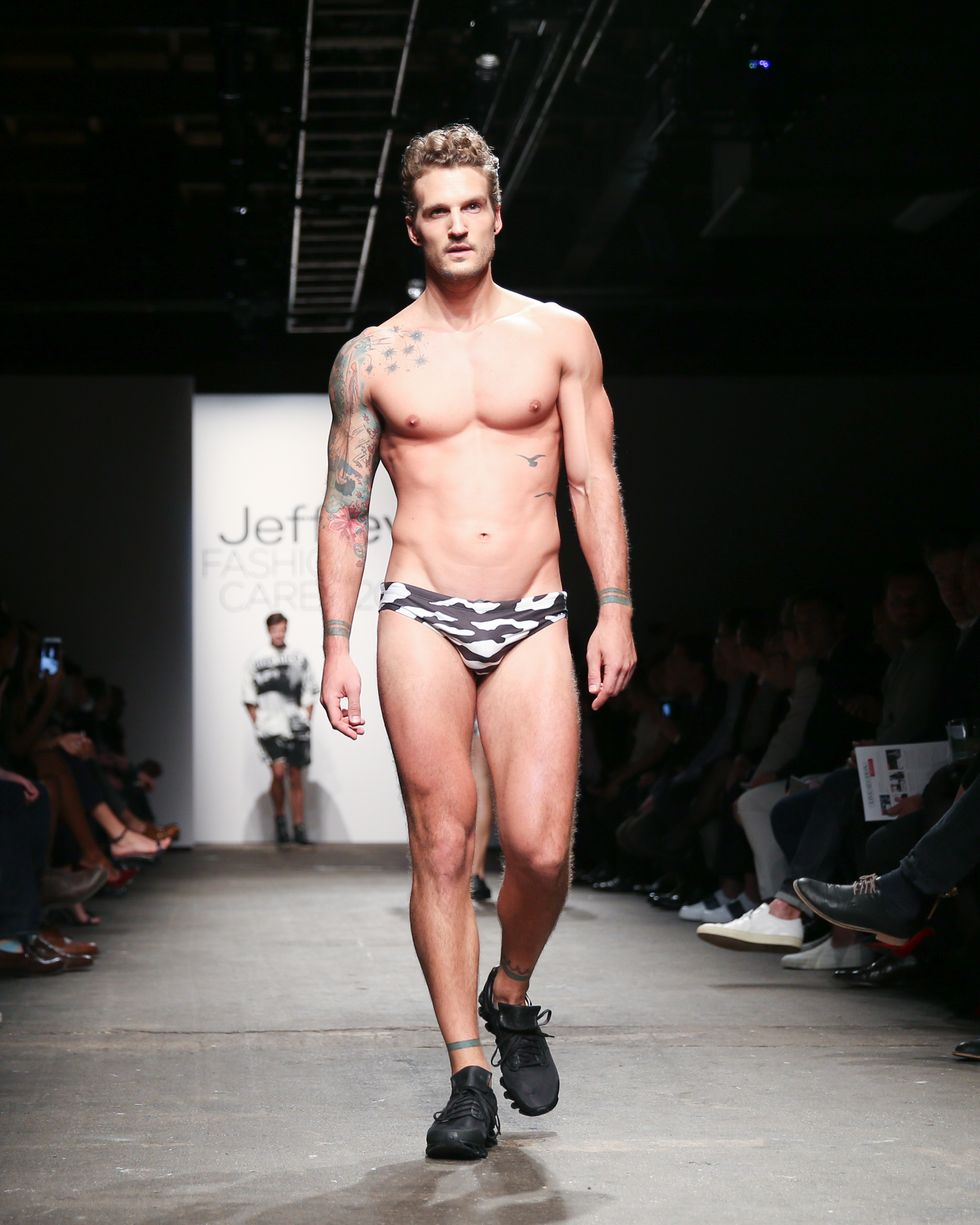 Hot Models In Speedos and Anna Wintour Spotted at Jeffrey Fashion Cares