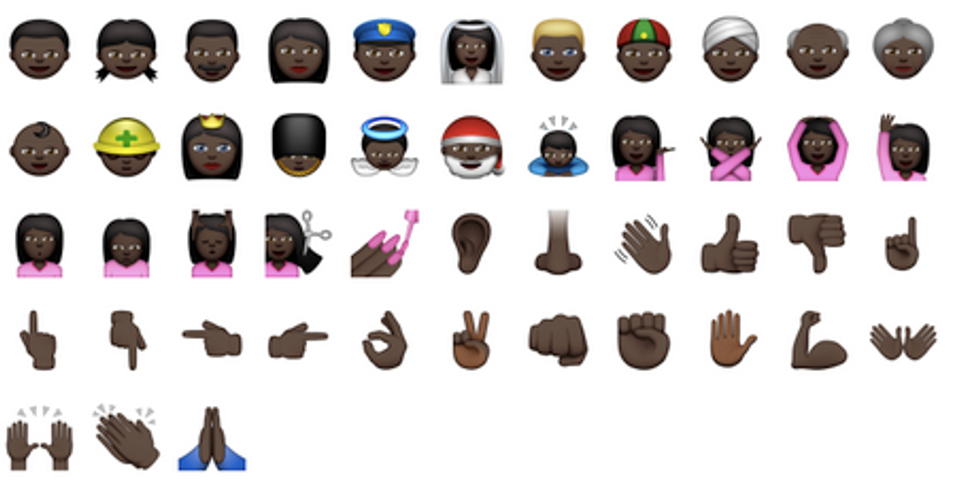 Racially Diverse Emojis Are Finally Here!