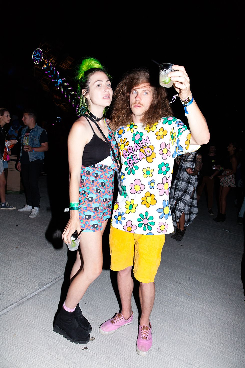 Scenes From Our Neon Carnival Party at Coachella