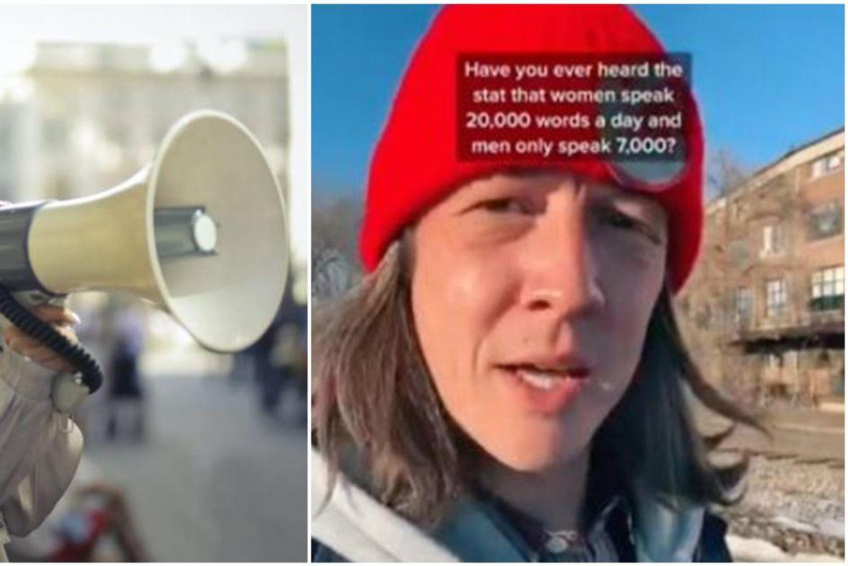 Guy's wonderful TikTok video destroys the myth that women are more talkative than men