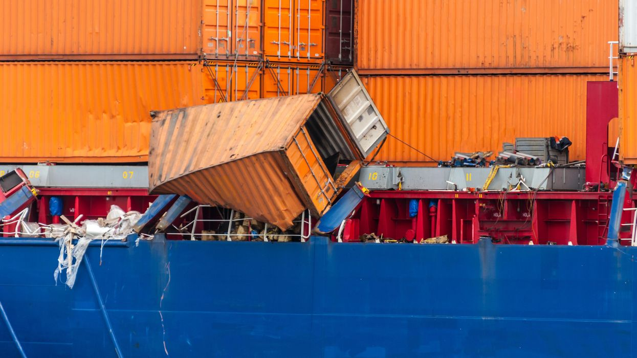 Nearly 3,000 shipping containers have fallen into the ocean since November