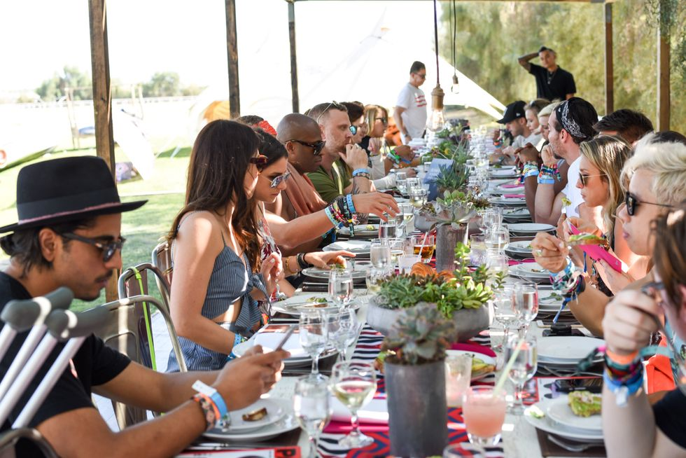 Scenes from Our Neon Carnival Recovery Brunch With Spotify at the Soho Desert House