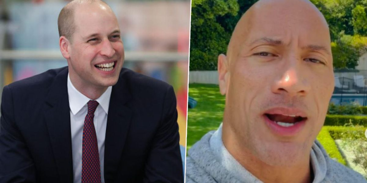 Dwayne 'The Rock' Johnson Responds to Prince William Being Named Sexiest Bald Man