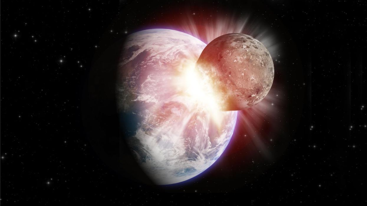 Did Earth eat the protoplanet it crashed into long ago?