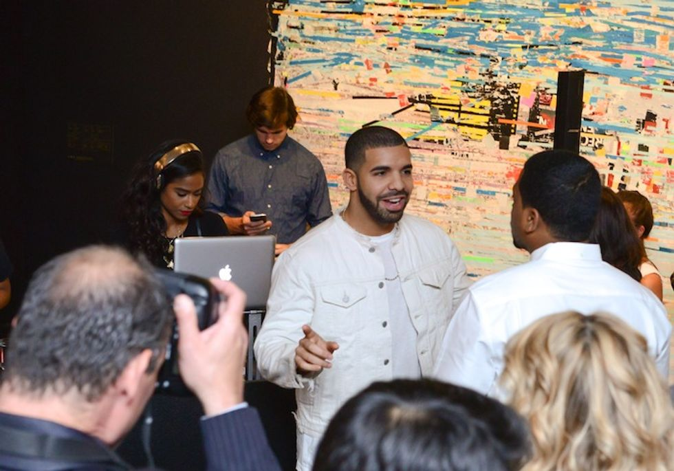 """""""If You're Reading This It's Art"""": Everything We Saw and Heard at Last Night's Art Openings (Incl. Drake)"""