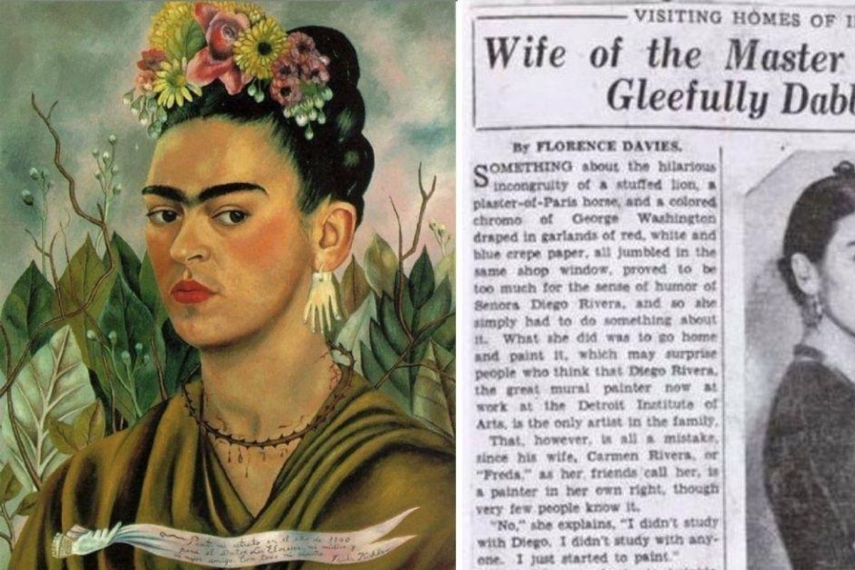 The headline writer for this 1933 Frida Kahlo article would undoubtedly like a do-over