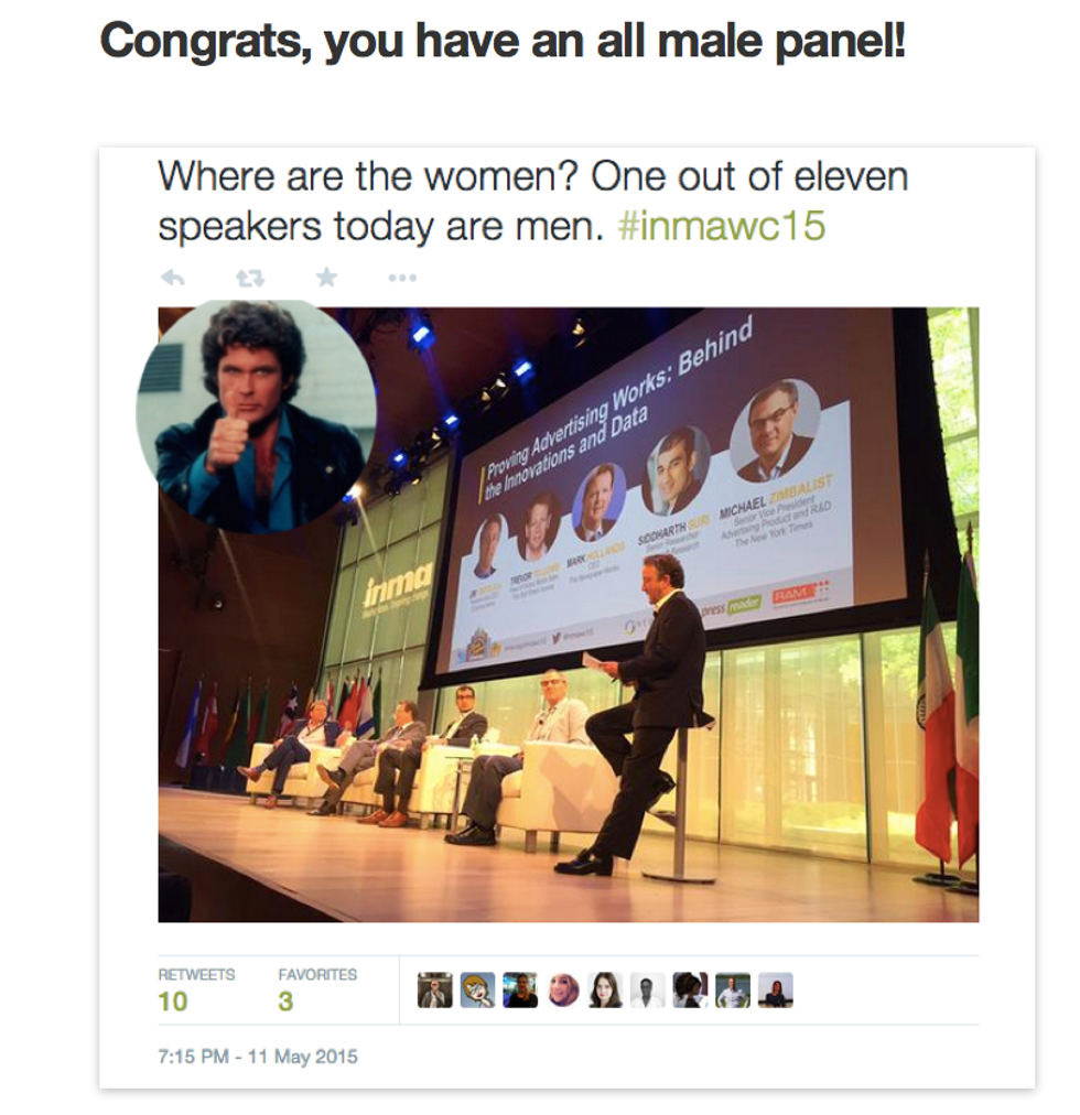 This Tumblr Calls Out All-Male Panels