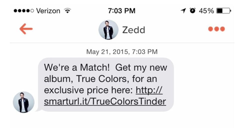 EDM Bro Zedd Is Selling His New Album for $3.99 on Tinder