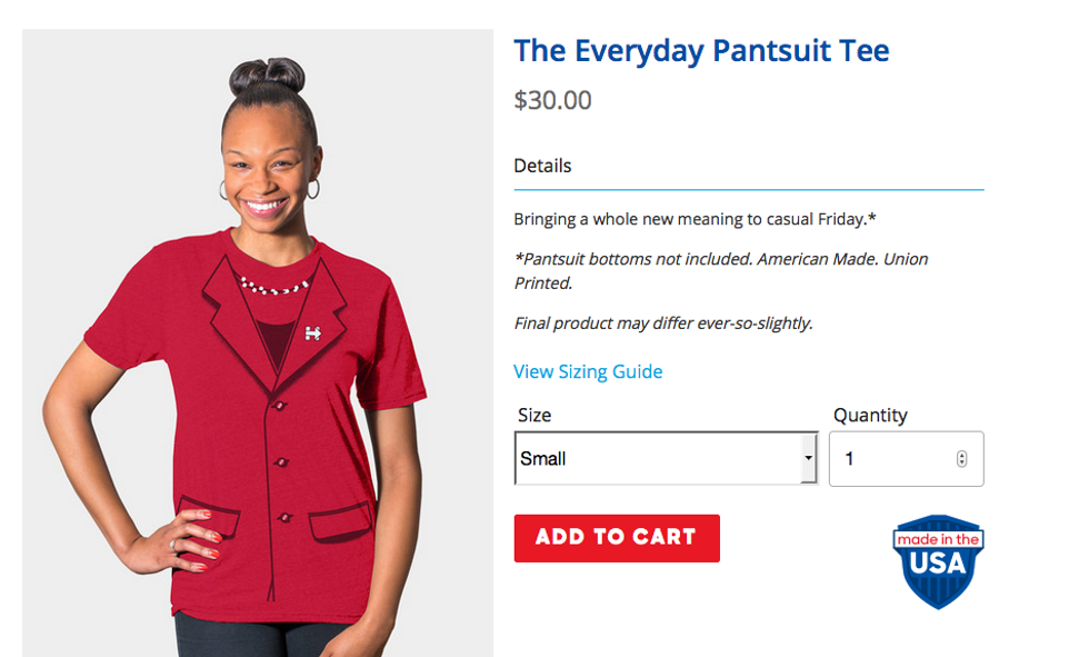 Get Your Hillary Clinton Pantsuit Tee