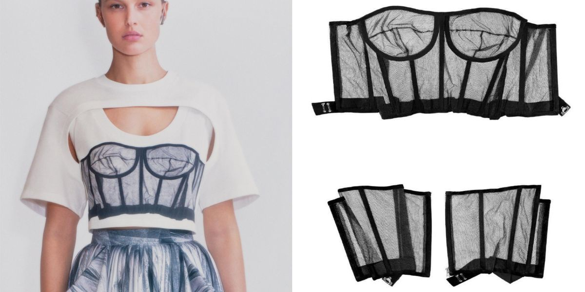 How Alexander McQueen Turned Vintage Corsets Into Engineered Prints for Spring 2021