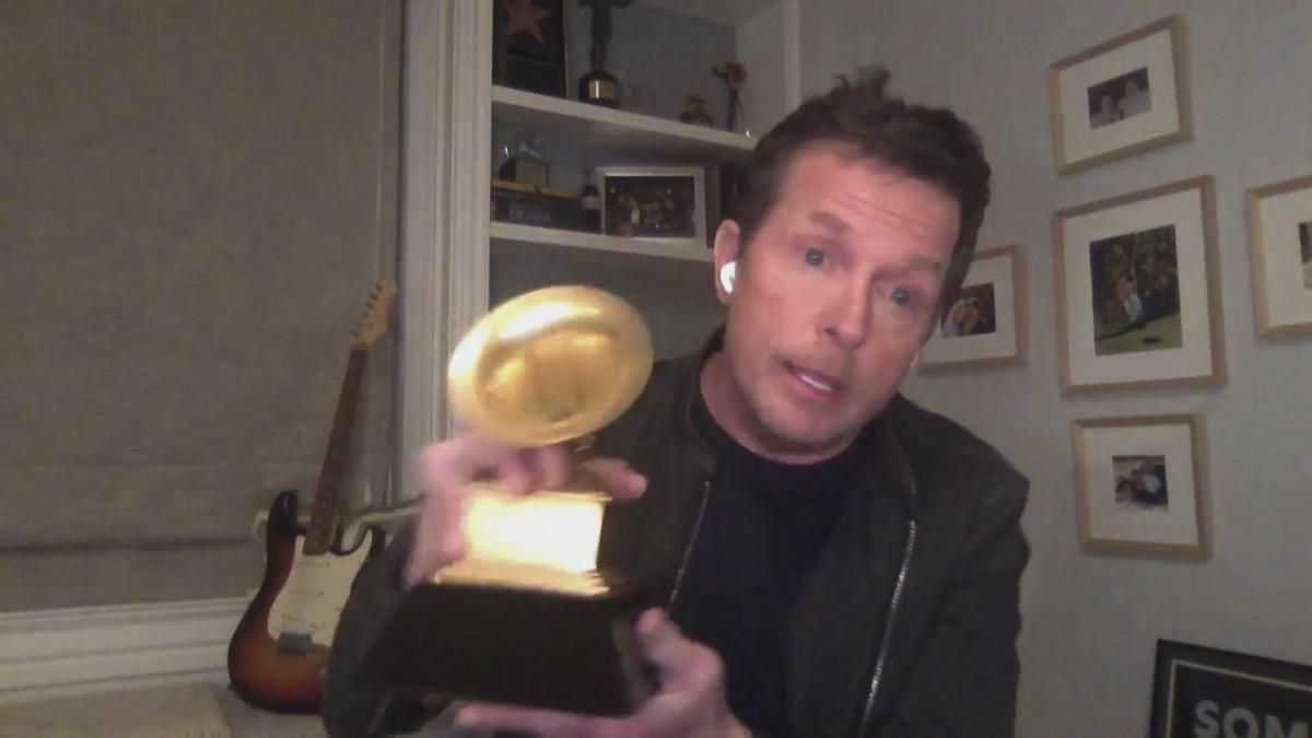 Michael J. Fox with his GRAMMY