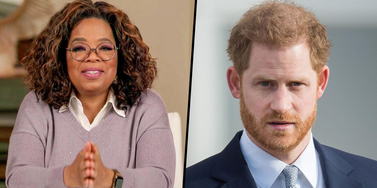 Prince Harry's Behind-The-Scenes Conversation with Oprah Has Gotten Everyone Talking