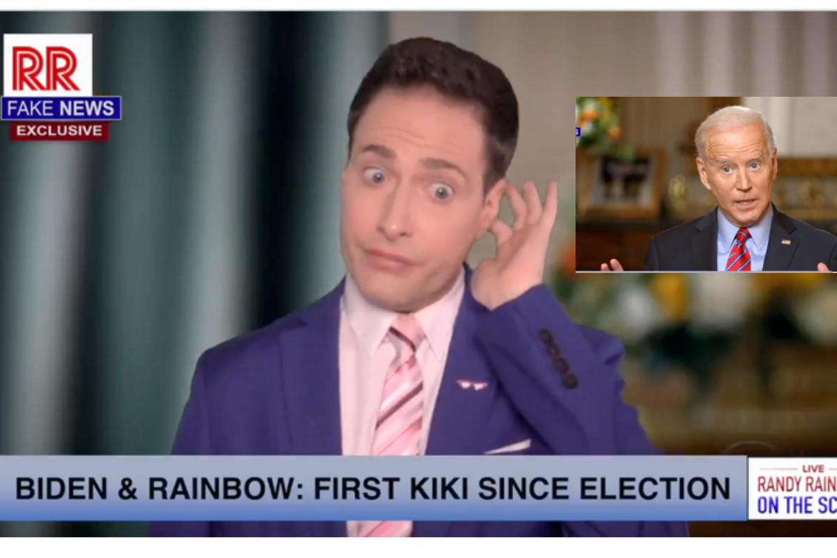 Randy Rainbow asks all the right questions in parody song interview with President Biden