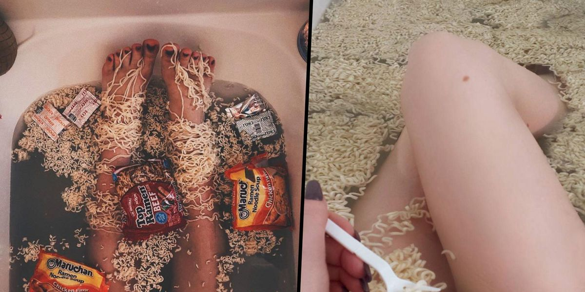 'Ramen Baths' Are the Strange New Beauty Trend and We're Not Sure How We Feel About Them