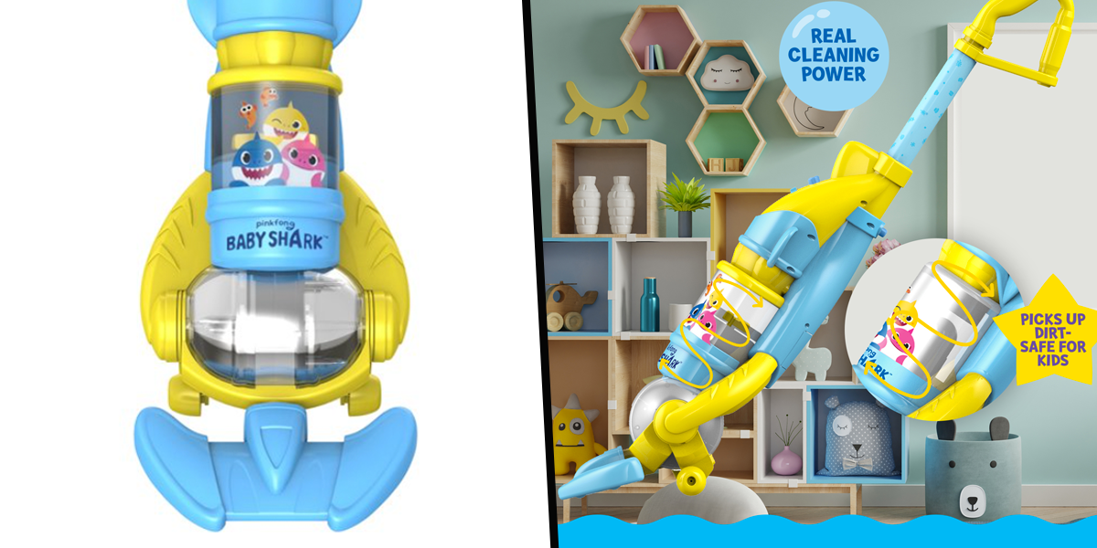 Parents Can Get a Baby Shark Vacuum Toy for Their Kids That Actually Cleans Things up
