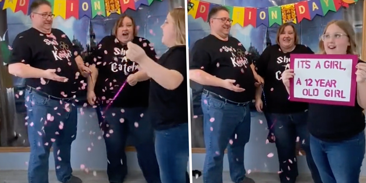 Family Made a Joke Gender Reveal Party For Their Adopted Daughter and Now It's Everyone's Favorite