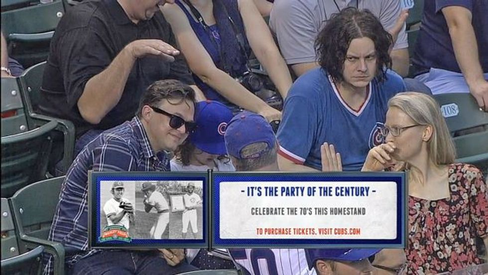 Jack White Had a Blast at the Cubs Game, Y'all!