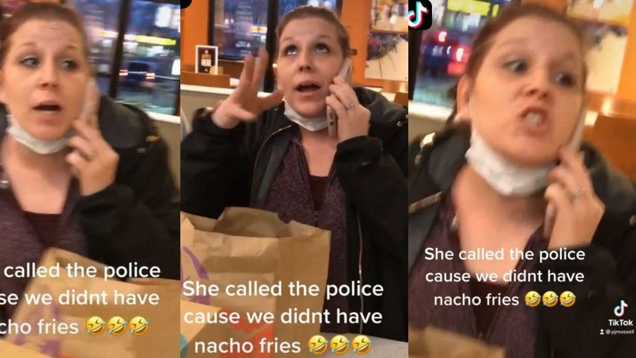'Karen' Calls Cops On Taco Bell Workers After Being Told She Couldn't Order Nacho Fries In Viral Video