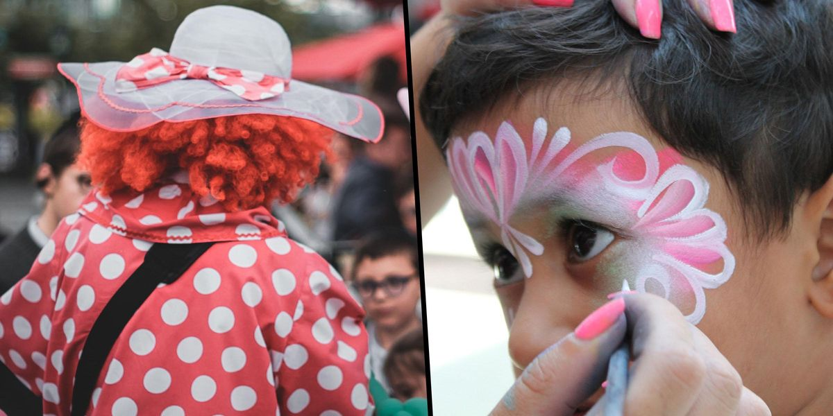 Clown Shames Mom Who Wouldn't Let Her Son Get a Butterfly Painted on His Face