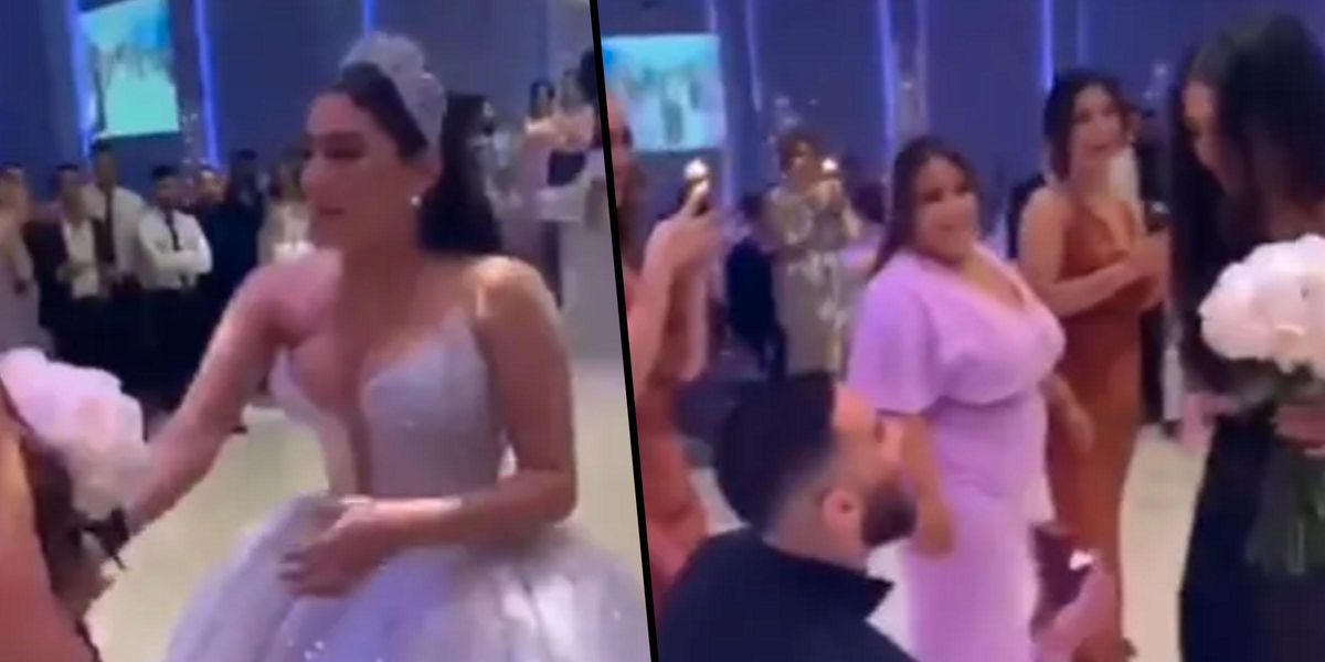 People Are Divided over Video of Couple Getting Engaged at Someone Else's Wedding